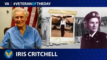 Army Air Forces Veteran Iris Cummings Critchell is today's Veteran of the Day.