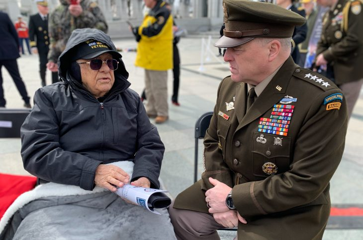 Ceremony honors Battle of Iwo Jima Veterans