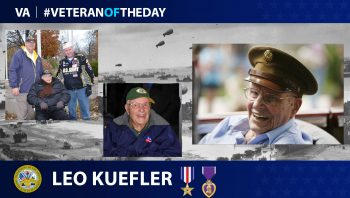 Army Veteran Leo J. Kuefler is today's Veteran of the Day.