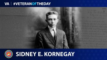 "Marine Corps Veteran Sidney Everett ""Ebie"" Kornegay is today's Veteran of the Day."