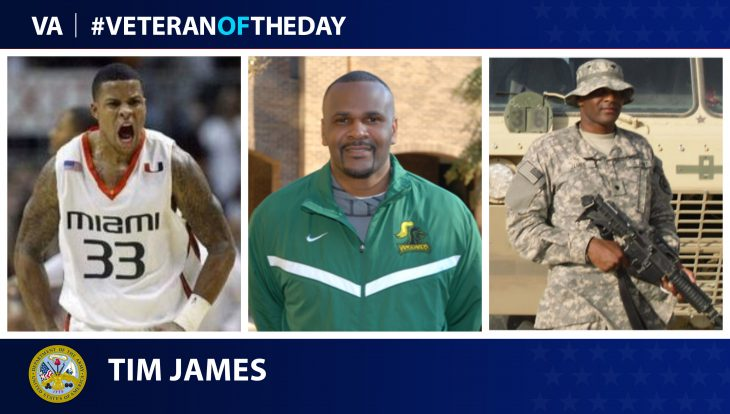 Army Veteran Tim James is today's Veteran of the Day.