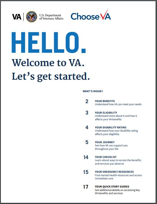 VA Welcome Kit image for Veterans and family members