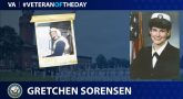Navy Veteran Gretchen Sorensen is today's Veteran of the Day.