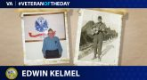 Army Veteran Edwin Kelmel is today's Veteran of the Day.