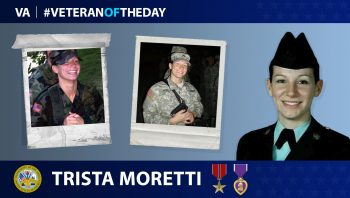 Army Veteran Trista Moretti is today's Veteran of the Day.