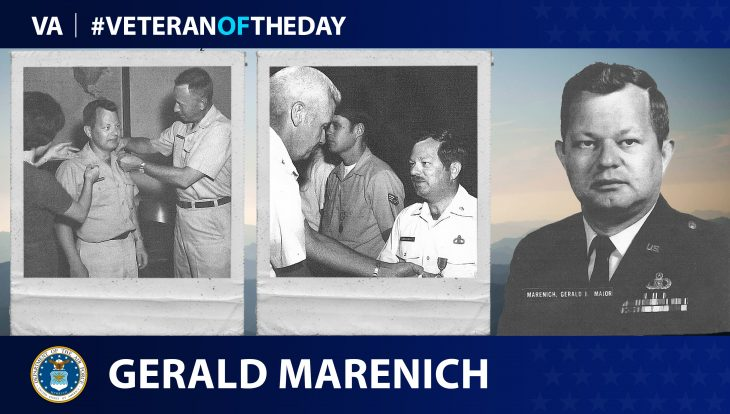 Air Force Veteran Gerald J. Marenich is today's Veteran of the Day.