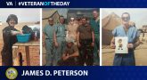"Army Veteran James ""Dean"" Peterson is today's Veteran of the Day."