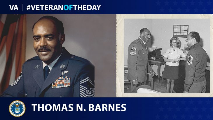 Air Force Veteran Thomas N. Barnes is today's Veteran of the Day.