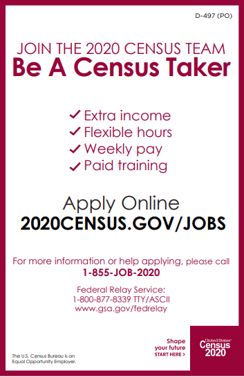 Census jobs for Veterans