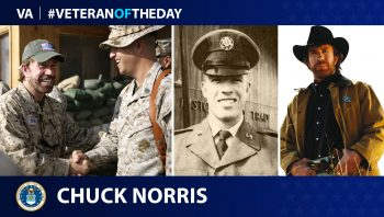 Air Force Veteran Chuck Norris is today's Veteran of the Day.
