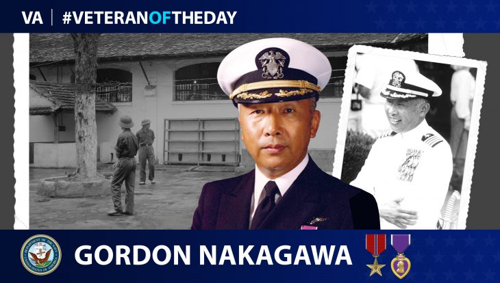 Navy Veteran Gordon Ross Nakagawa is today's Veteran of the Day.