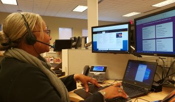 Janice at her Workstation