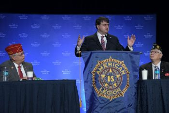 VA Secretary Robert Wilkie speaks during the American Legion Winter Conference. One topic was VA's response to the Coronavirus.