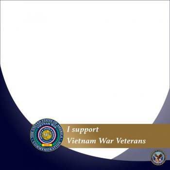 VA created a Facebook frame for Vietnam War Veteran supporters.