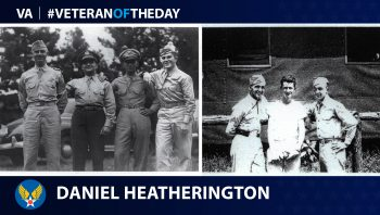 Army Air Forces Veteran Daniel Wyatt Heatherington, Jr. is today's Veteran of the Day.