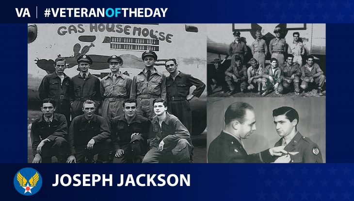 Army Air Force Veteran Joseph M. Jackson is today's Veteran of the Day.