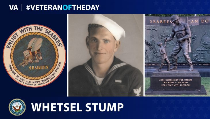 Navy Veteran Whetsel M. Stump is today's Veteran of the Day.