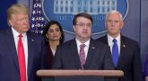 VA Secretary Robert Wilkie briefs at the White House March 18, 2020.