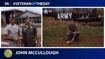 Army Veteran John Lansford McCullough is today's Veteran of the Day.