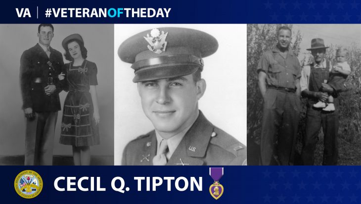 Army Veteran Cecil Q. Tipton is today's Veteran of the Day.