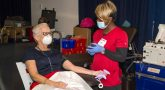 Dr. Boyd at VA and Red Cross blood drive.