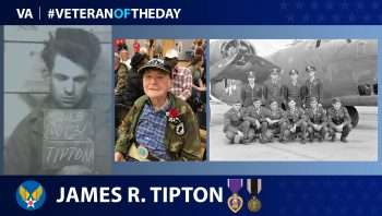 Army Air Forces Veteran James R. Tipton is today's Veteran of the Day.