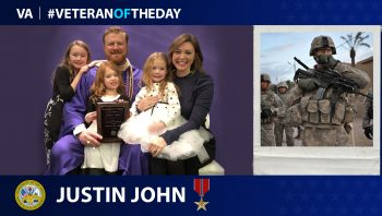 Army Veteran Justin John is today's Veteran of the Day.