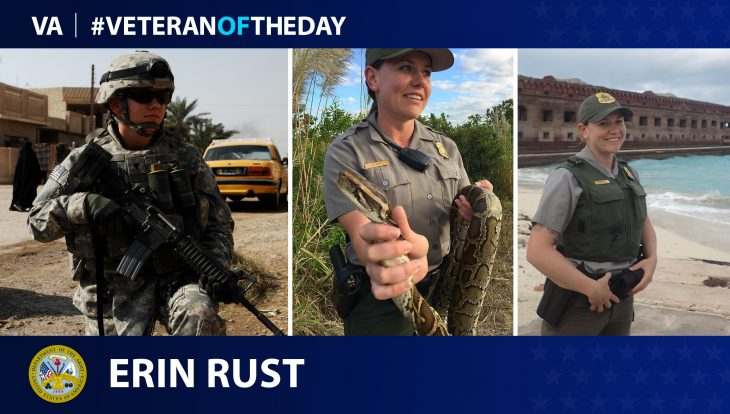 Army Veteran and National Park Service Ranger Erin Rust is today's Veteran of the Day.