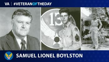 Army Air Forces Veteran Samuel Lionel Boylston is today's Veteran of the Day.