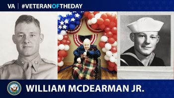 Navy and Air Force Veteran William McDearman is today's Veteran of the Day.