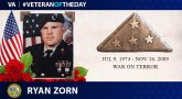 Army Veteran Staff Sgt. Ryan Zorn is today's Veteran of the Day.