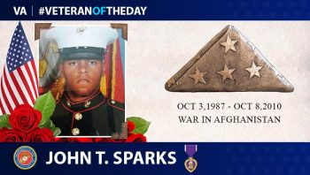 Marine Veteran John T. Sparks is today's Veteran of the Day.