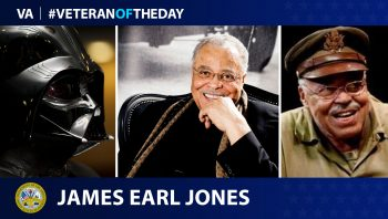 Army Veteran James Earl Jones is today's Veteran of the Day.