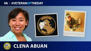 Army Veteran Clena Abuan is today's Veteran of the Day.