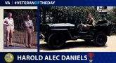 Army Veteran Harold Alec Daniels is today's Veteran of the Day.