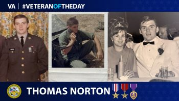 Army Veteran Thomas Norton is today's Veteran of the Day.