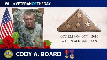 Army Veteran Cody Board is today's Veteran of the Day.