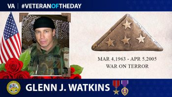 Army Veteran Glenn James Watkins is today's Veteran of the Day.