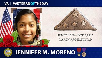 Army Veteran Jennifer Moreno is today's Veteran of the Day.