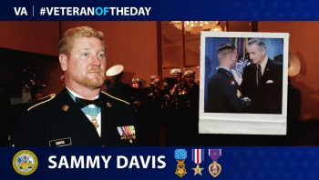 Army Veteran Sammy L. Davis is today's Veteran of the Day.