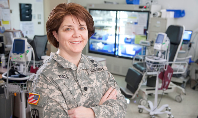 Dr. Molly Klote as a physician in the allergy department at Walter Reed Army Medical Center in 2011.