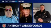 Marine Corps Veteran Anthony J. VandeVoorde is today's Veteran of the Day.