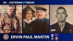 Marine Corps Veteran Dr. Ervin Paul Martin is today's Veteran of the Day.