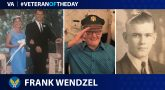 Army Air Forces Veteran Frank Wendzel is today's Veteran of the Day.