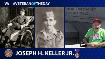 Marine Veteran Joseph H. Keller Jr. is today's Veteran of the Day.