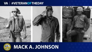 Army Veteran Mack Johnson is today's Veteran of the Day.