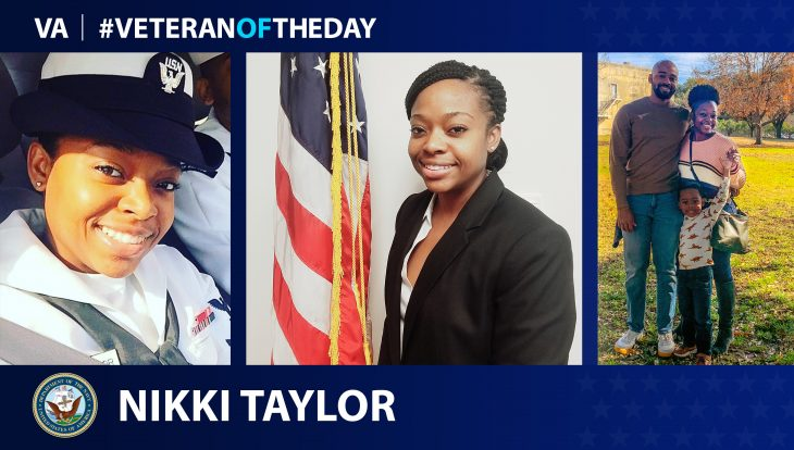 Navy Veteran Nikki Taylor is today's Veteran of the Day.