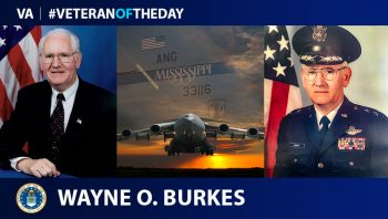 Air Force Veteran Wayne Burkes is today's Veteran of the Day.