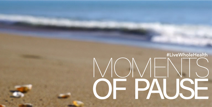 Moments of pause can help calm people.