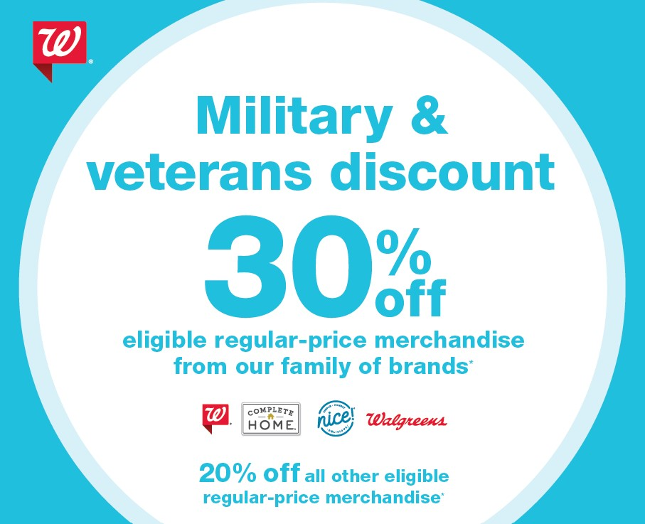 Walgreens Offering Veteran And Military Discount July 3 5 Vantage Point